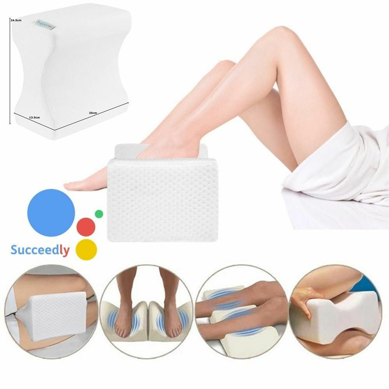 Pillow Devoted New Arrivals Memory Foam Contour Leg Pillows Bed Orthopaedic Firm Back Hips Knee Support Cover Soft Comfortable Baby Leg Pillows