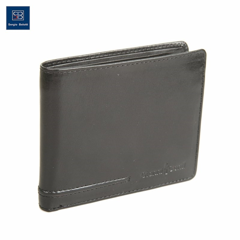 Coin Purse Gianni Conti 707464 black simline vintage genuine crazy horse cow leather men men s long hasp wallet wallets purse zipper coin pocket holder with chain