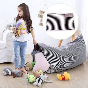 Home large capacity woven moving bag crystal velvet storage bag custom thickened portable x children's toy storage bag bean bag