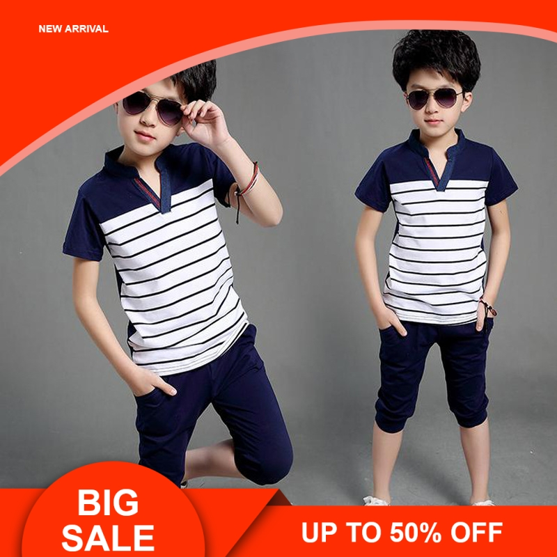 Summer Baby Boys Clothes Shirt+Shorts Outfit Kids Sport Suit Toddler Clothing Sets