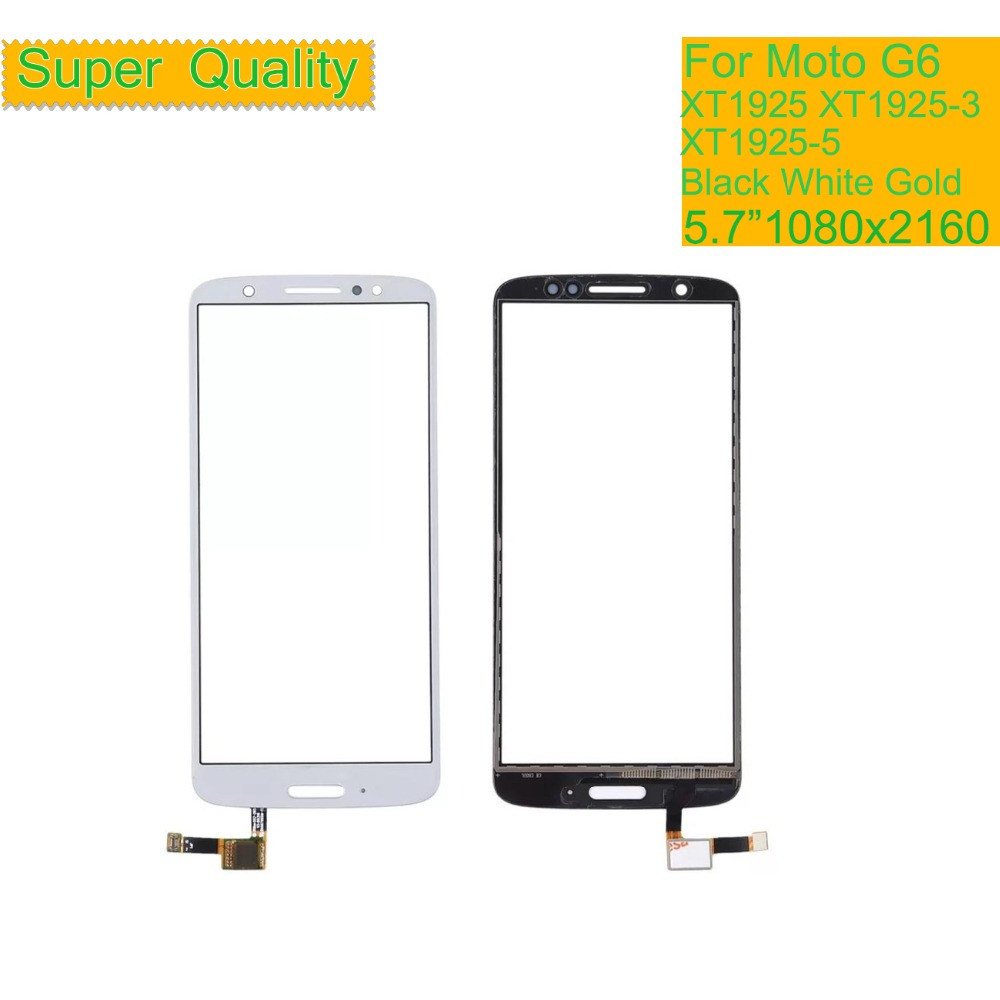10Pcs lot ORIGINAL Touchscreen For Motorola Moto G6 XT1925 XT1925 3 XT1925 5 Touch Screen Digitizer