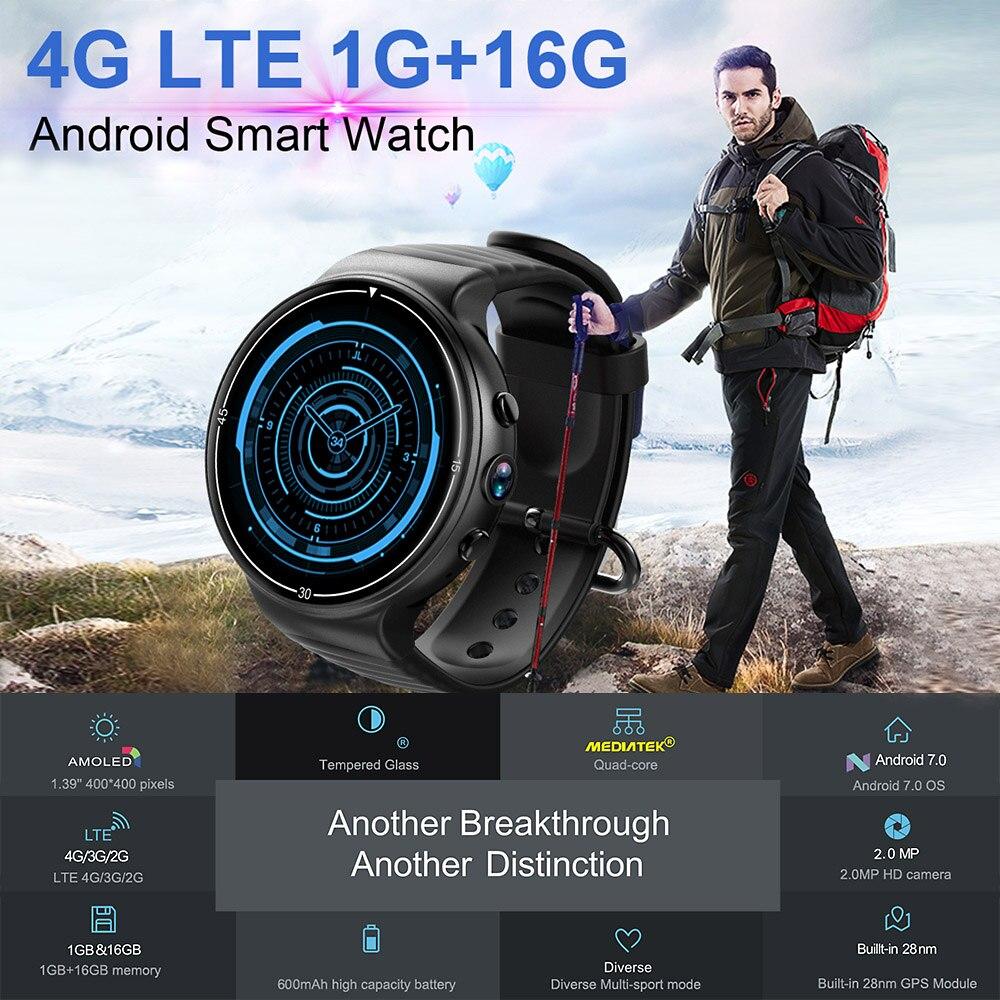 I8 4G Smart Watch Men Android7 0 MTK6737 1GB 16GB WiFi BT GPS Nano SIM Smartwatch