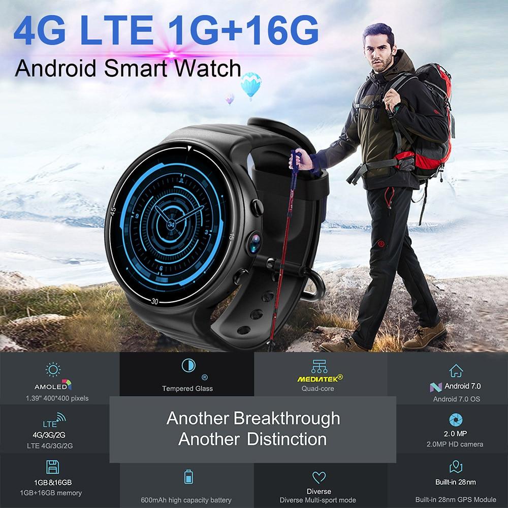 I8 4g Smart Uhr Männer Android7.0 MTK6737 1 gb/16 gb WiFi BT GPS Nano SIM Smartwatch Telefon fitness Tracker Heart Rate Monitor-in Smart Watches aus Verbraucherelektronik bei  Gruppe 1