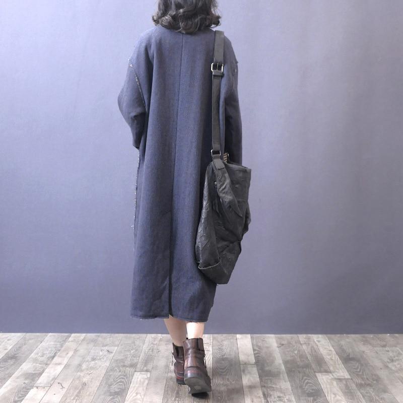 2019 Épissage Green Longues Couleur Bouton blue eam Turn Manteau Poches Solide Femme Printemps Manches Lâche down Unique Le077 Longue Col fpnAd4qF