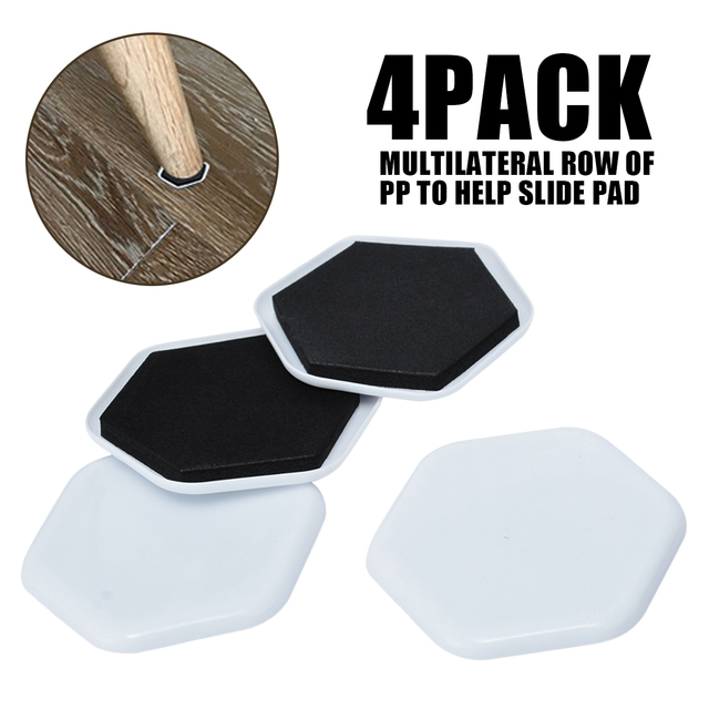 4pcs Furniture Moving Slider Pad Heavy Duty Sofa Table Moving Pads