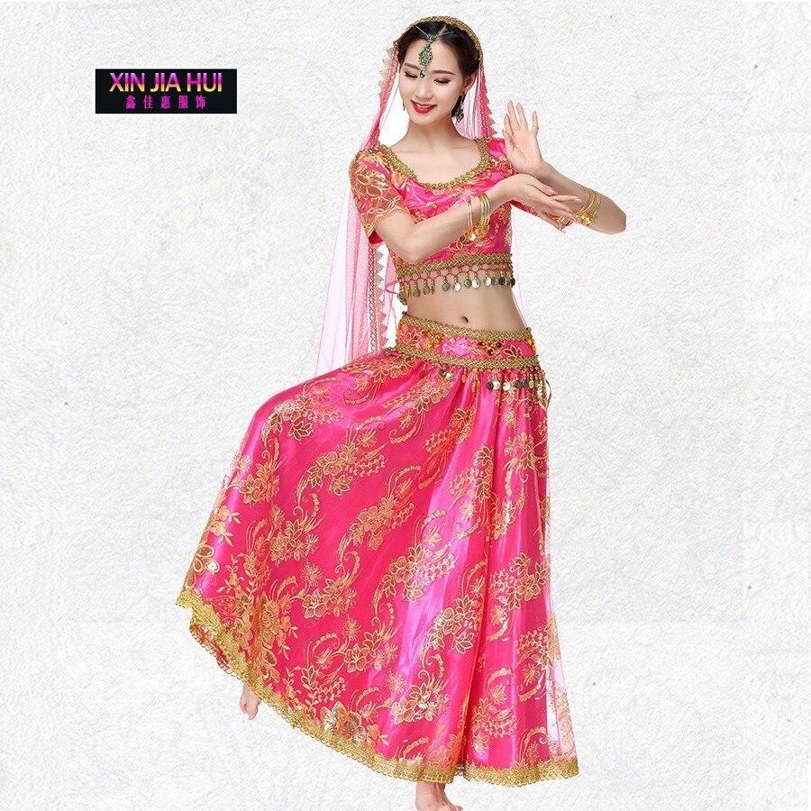 Danse du ventre nouveau modèle inde Sari mariée vêtements femme Bollywood Performance servir costume danse du ventre indien Sexy Saree gitane