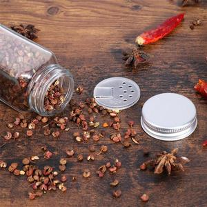 Image 3 - 12PCS Spice Jars Square Glass Containers Seasoning Bottle Kitchen and Outdoor Camping Condiment Containers with Cover Lid