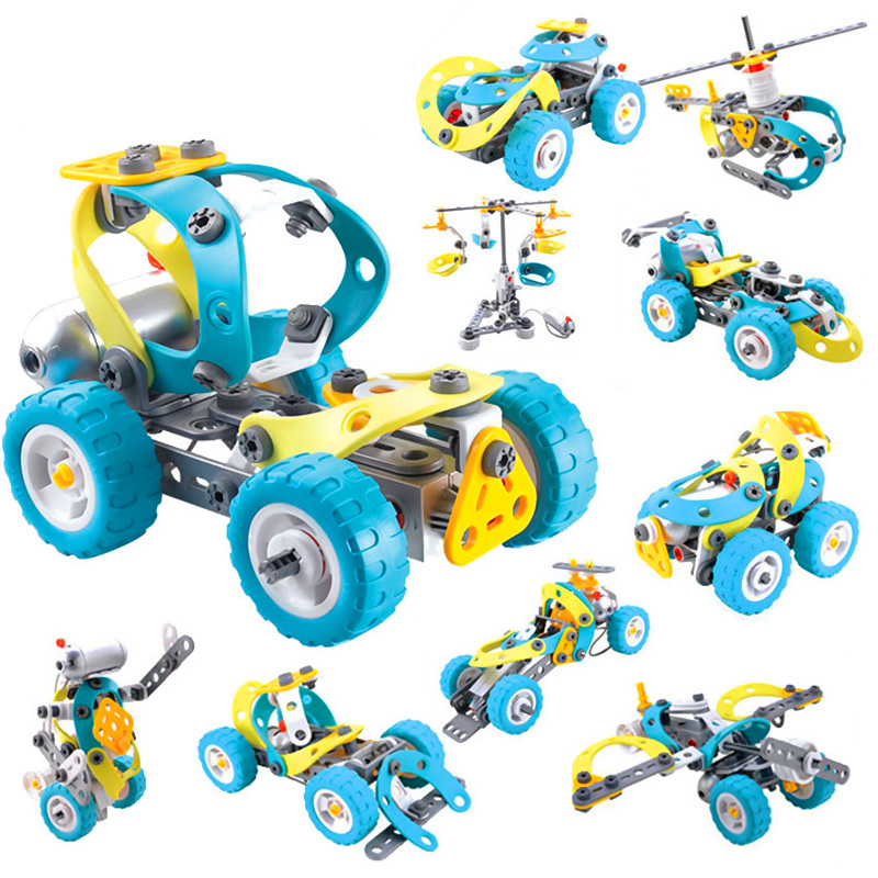 Electric Motor Building Block Toy For Children Electric Model Building Blocks Kit Educational Intelligence Toy Gift For Kids