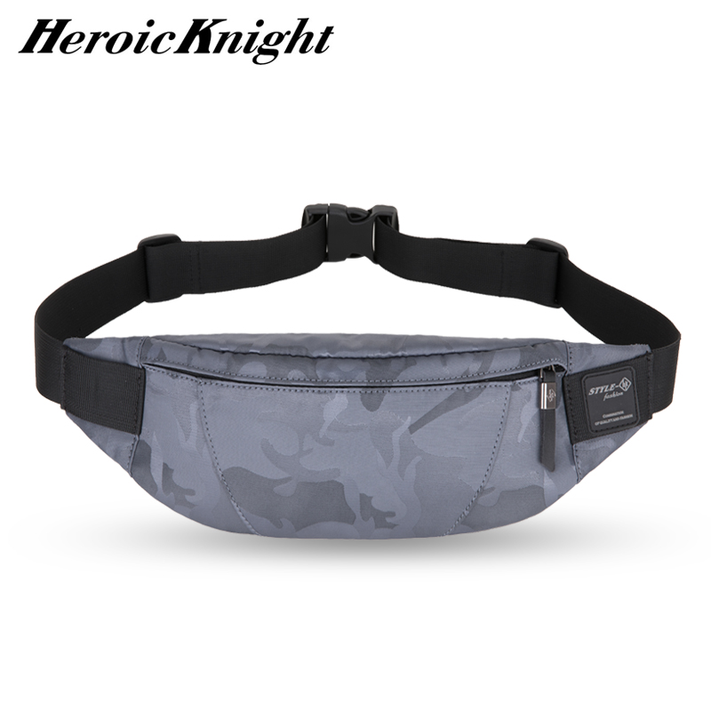 Heroic Knight Men Waist Bag Money Belt Bag Men Purse Teenager's Travel Wallet Belt Male Fanny Pack Cigarette Cose For Phone