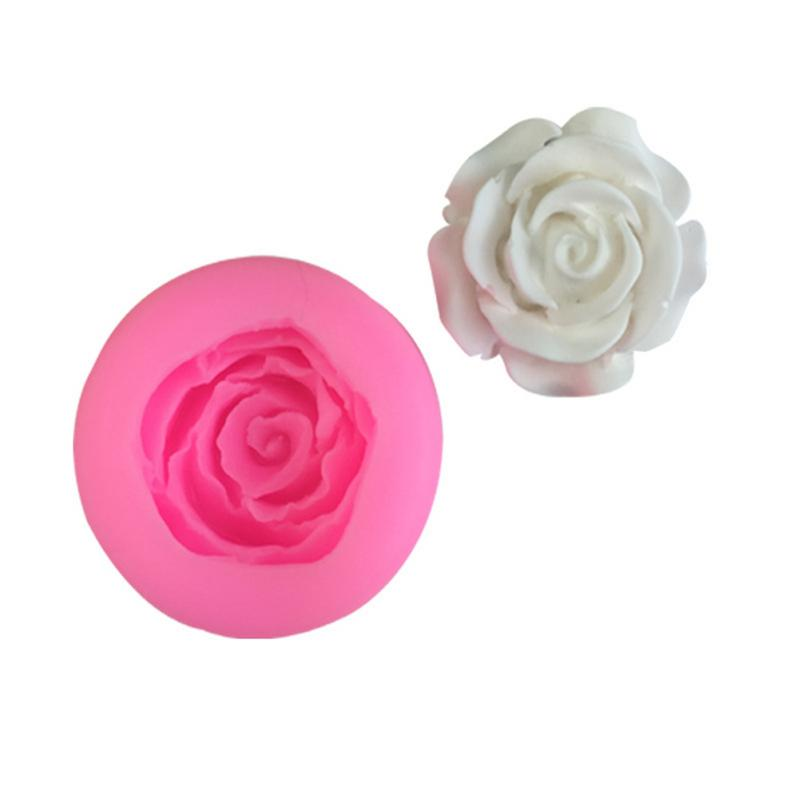 Mini Size Silicone Mold Rose Shaped Handmade Fondant Cake Decorating Tools DIY Silicone Mould Baking Tools Clay Candle Mould