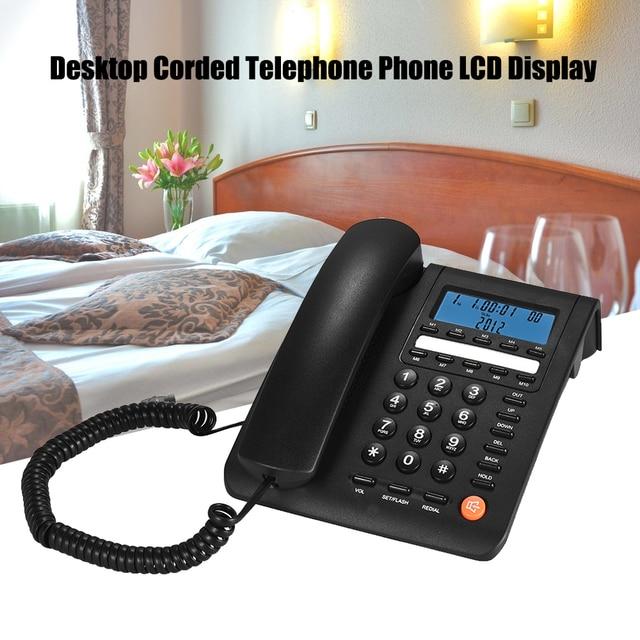 デスクトップコード電話機固定電話 Lcd ディスプレイのためのコールセンターオフィス会社ホテル