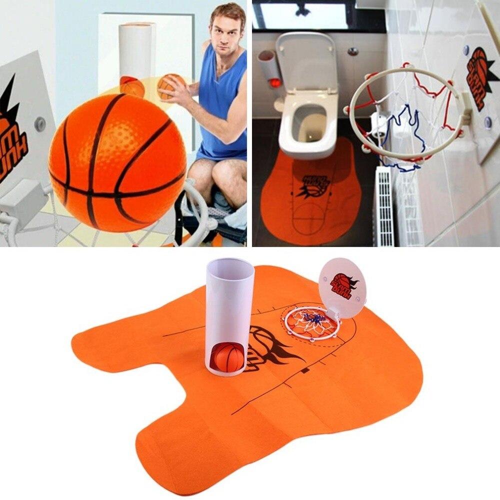 1 set Slam Dunk toilette Basket salle de bain tapis blague cadeau pour les amateurs de Basket nouveauté Fun Basket