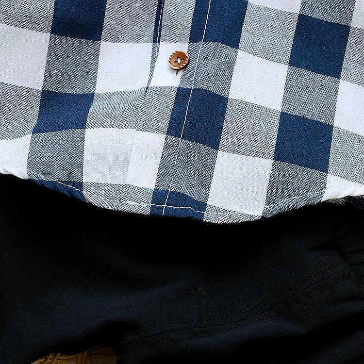 Chłopcy zestaw 2019 nowy chłopiec koszula z klapą dwuczęściowy garnitur dzieci mały dżentelmen nosić odzież codzienna odzież dziecięca
