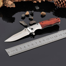 OWL OD093 DA51 Folding knife 3Cr13 Blade Rosewood Handle Tactical Knife Pocket Camping Tool fast open Hunting Survival Knife