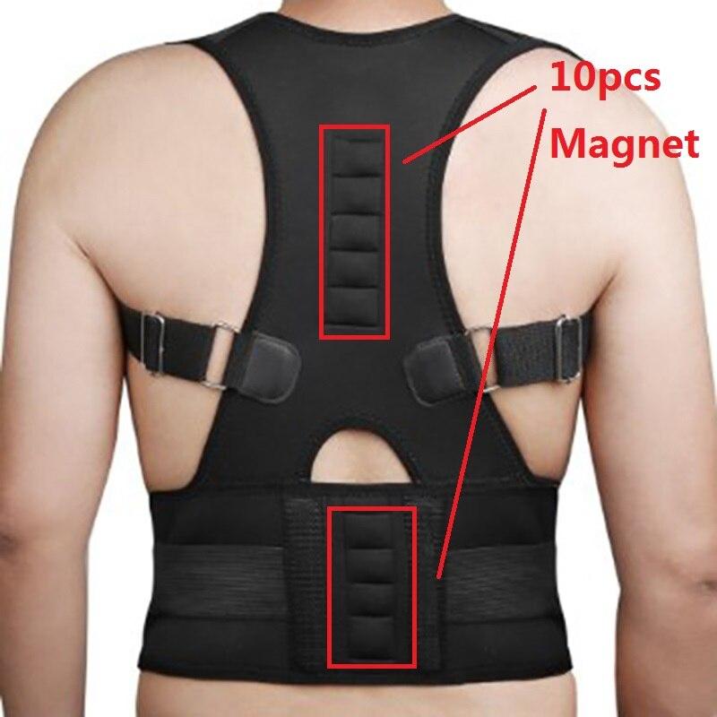 Adjustable Magnets Back Support Posture Corrector Women Men's Medical Corset Back Therapy Posture Brace Back Support Belt B002