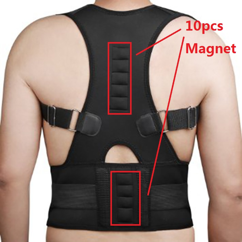 Ímãs ajustáveis para trás apoio postura corrector masculino médico espartilho volta terapia postura cinta volta cinto de apoio b002