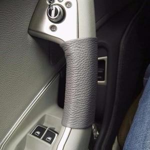 Image 2 - アウディA6 C6 2005 2006 2007 2008 2009 2010 2011 車の内部ドアハンドル手縫製牛革カバー