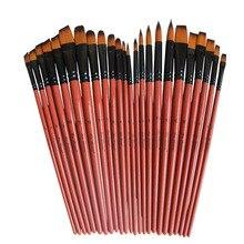 Художественная модель краски нейлоновые волосы акриловые масляные акварельные Рисование товары для рукоделия коричневый 6 шт. краски для рукоделия набор кистей для рисования