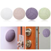 1PCS Silicone Anti-Skid Round Wall Sticker Thickening Mute Door Stick Rubber Door Lock Protector Handle 3D Knob Adhesive(China)