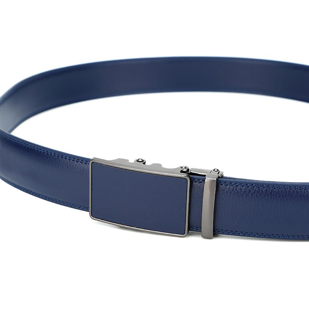 LVLUOYE Mens belt Real Leather Ratchet Automatic Buckles Dress Jeans 38Mm Wider