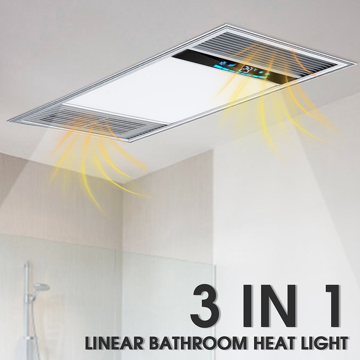 220V Intelligent Multi-function Smart  Warm Integrated Embedded Ceiling Triple Bathroom Heater Electric Thickness Home Heater220V Intelligent Multi-function Smart  Warm Integrated Embedded Ceiling Triple Bathroom Heater Electric Thickness Home Heater