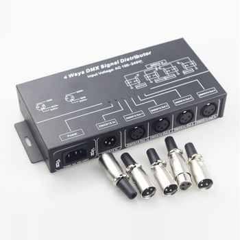 4CH/8CH AC100/240V DMX Signal Distributor Work with Led DMX Controller 512 Console and DMX Decoder Led DMX Controller Amplifier