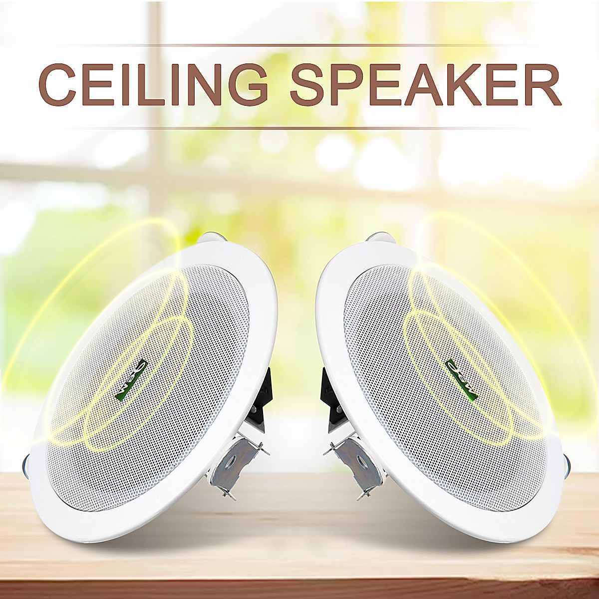 1 Pair 5 cal Audio Stereo głośnik kompaktowy odporny na wilgoć głośnik sufitowy domu tle system muzyczny samochodów łódź głośnik