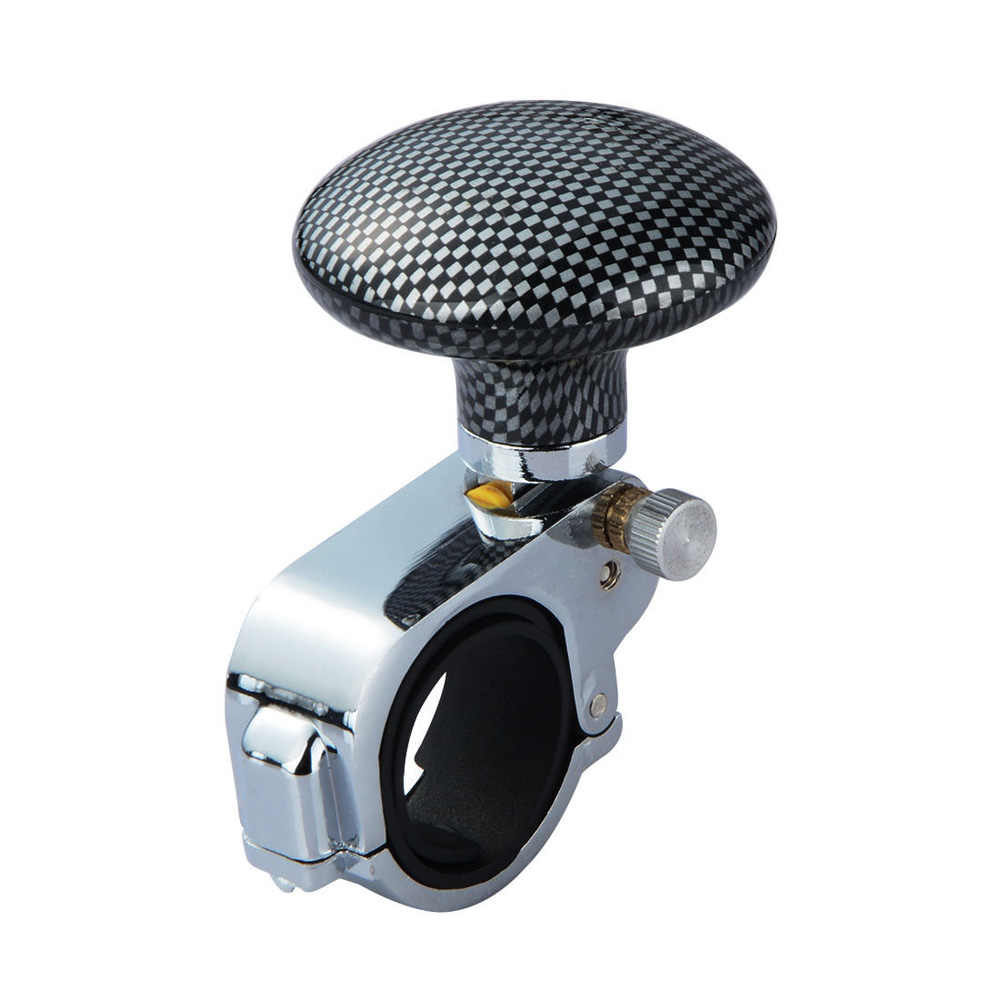 Atv,rv,boat & Other Vehicle Car Auto Steering Wheel Spinner Knob Auxiliary Booster Aid Handle Knob Black High Quality Alloy Material Easy To Install Controllers