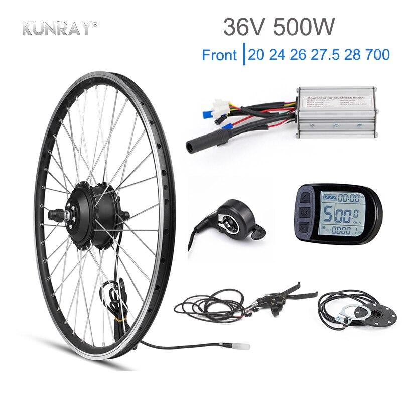 Kunray Électrique Roue 36 V Brushless Moteur Moyeu vélo électrique Kit de Conversion 500 W KT écran led lcd Accessoires Vélo 28