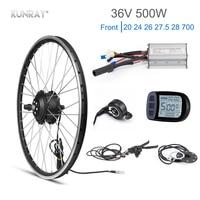 Kunray Электрический колеса 36 В бесщеточный система коробки передач велосипед с электродвигателем Conversion Kit 500 Вт KT ЖК светодиодный дисплей Акс