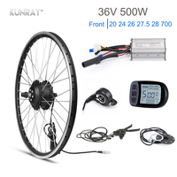 Kunray Electric Wheel 36V Brushless Gear Hub Motor Electric Bike Conversion Kit 500W KT LCD LED Display Bicycle Accessories 28