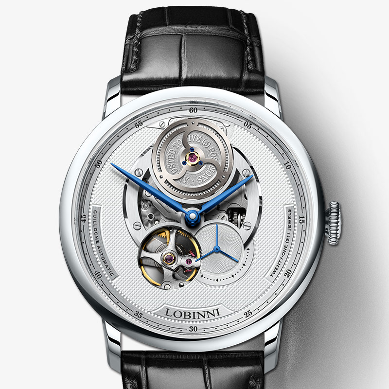 Suisse marque de luxe LOBINNI Top japon importation automatique mécanique montres pour hommes saphir 50 M étanche relogio horloge L16020 - 3