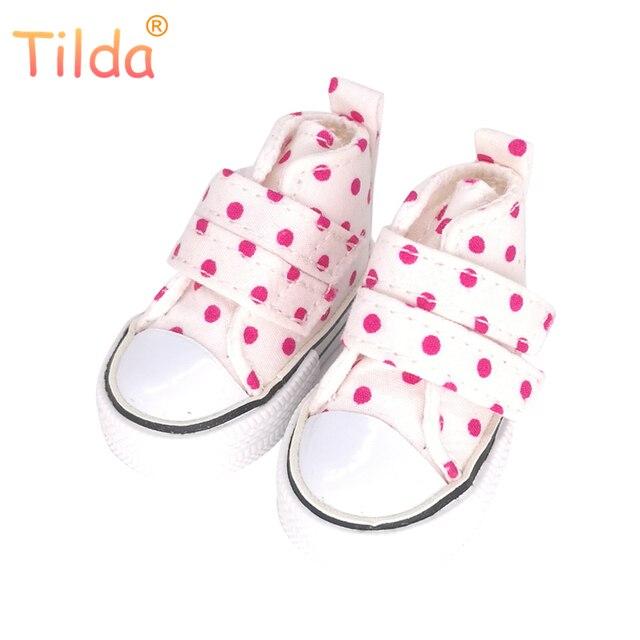 Тильда 6 см мини-обувь для Paola Reina кукла, мода мини-игрушка спортивная обувь для Тильда, 1/4 обувь для кукол BJD обувь для кукол аксессуары