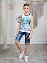 Майка трикотажная Luminoso для мальчиков