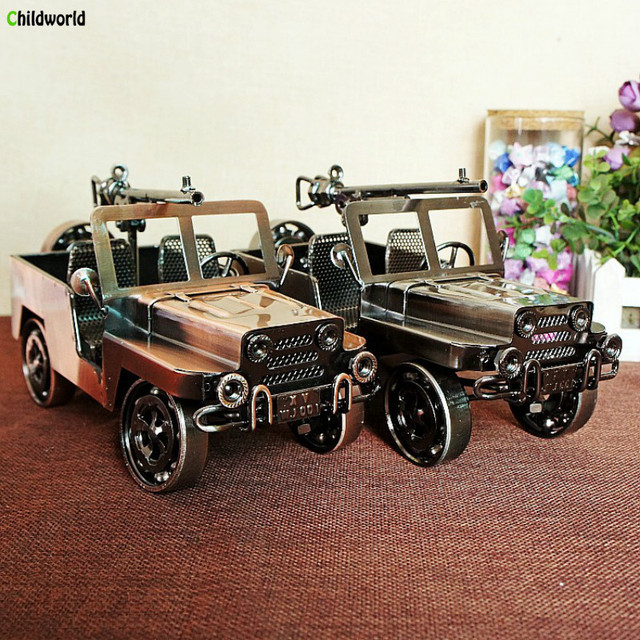 US $56 05 |2018 Real Hot Exclusive Listing European Vintage Tin Chariot  Ornaments Electroplating Rust free Automobile Household Decoration -in