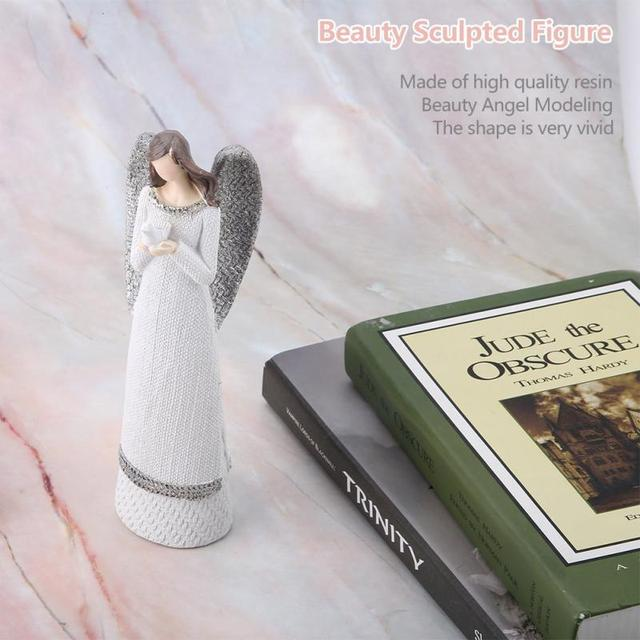 Resin Figures 20cm Resin White Beauty Sculpted Figure Table Ornaments Hand-painted Angel Figurine Home Decoration Accessories 5