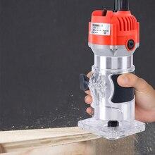800 Вт 30000 об/мин деревообрабатывающий электрический триммер деревянная фрезерная гравировка долбежная Обрезка машина ручная машинка для резки дерева маршрутизатор