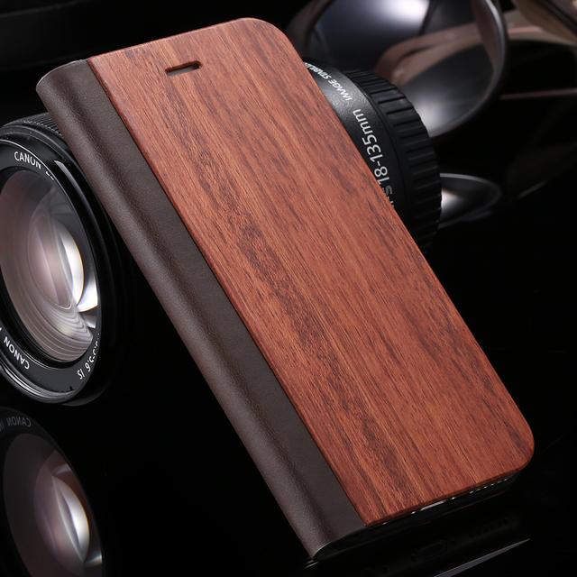 Durable Wood Wallet Phone Case