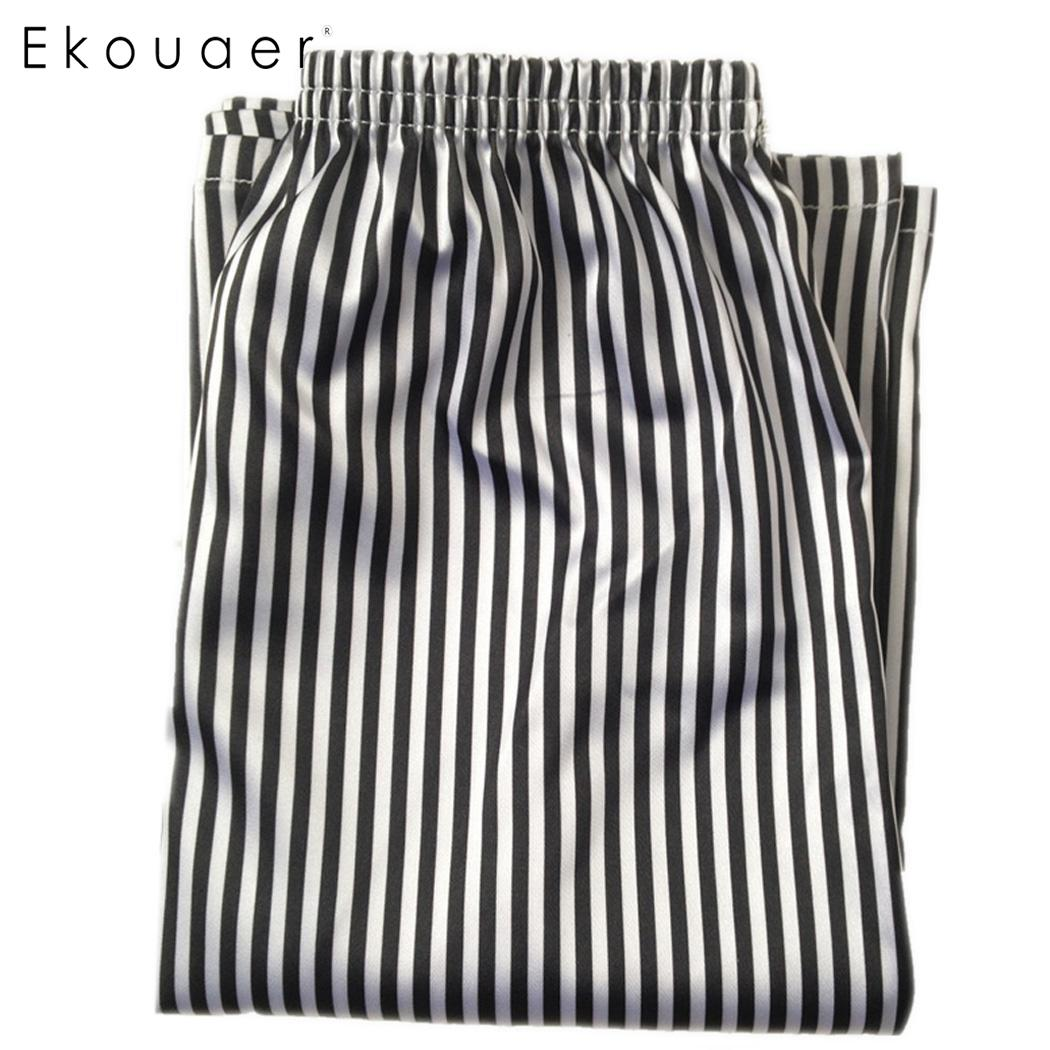 Ekouaer Men Men's Sleep Bottoms Summer Lounge Short Pants Sleepwear Thin Medium Waist Loose Pajama Shorts