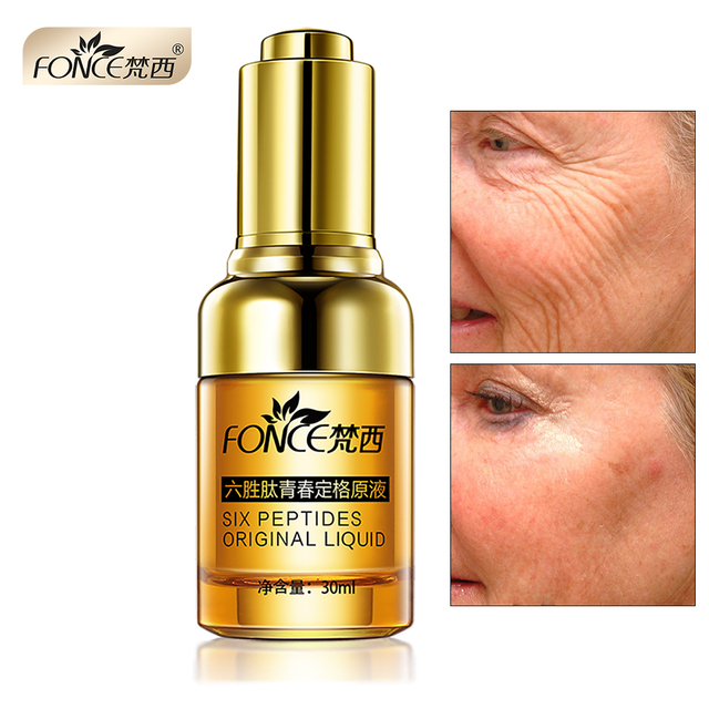 Fonce Anti Wrinkle Remover Facial Serum Plant Anti Aging Lifting Firming Face 25 55 Age Argireline Six Peptides Essence 30ml