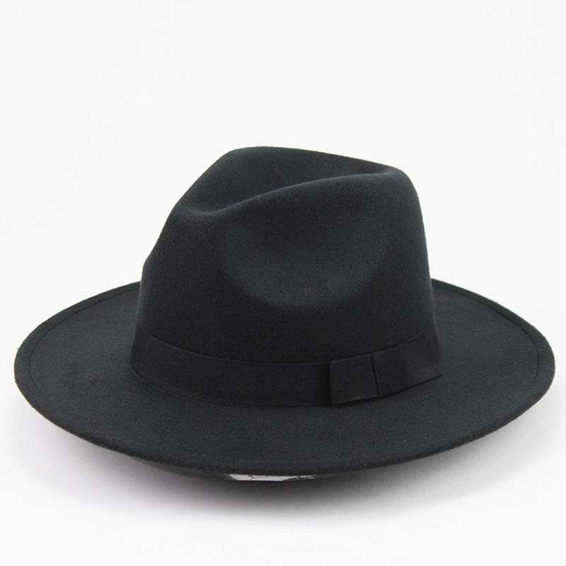 e03661bf3c69 3 colores de la Mafia hombres de sombrero de fieltro lana Snap ...