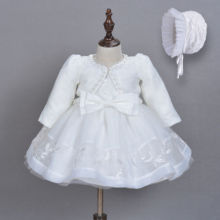 3pcs Baby Girls Princess Gown Dress Lace Christening Wedding