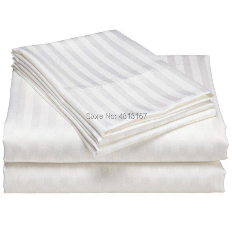 100% قطن حرير شريط حاف الغطاء لحاف/المعزي الحالات غطاء المخدة مفارش ومنسوجات أسرة ملائمة للفنادق واحد مزدوج كامل الملكة الملك الحجم