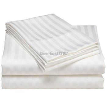 100% Cotton Satin Stripe Duvet Cover Quilt/Comforter Cover Cases Pillowcase Hotel Textile Single Double Full Queen King Size