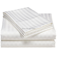 Capa de edredon listras de cetim 100% algodão  fronha para hotel  têxtil  dupla  rainha  king size