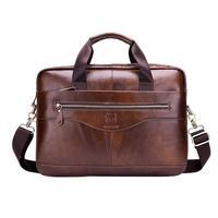 BULLCAPTAIN бизнес мужской портфель сумка Продвижение простой известный бренд роскошные кожаные Сумка для ноутбука человек сумки курьерские Су