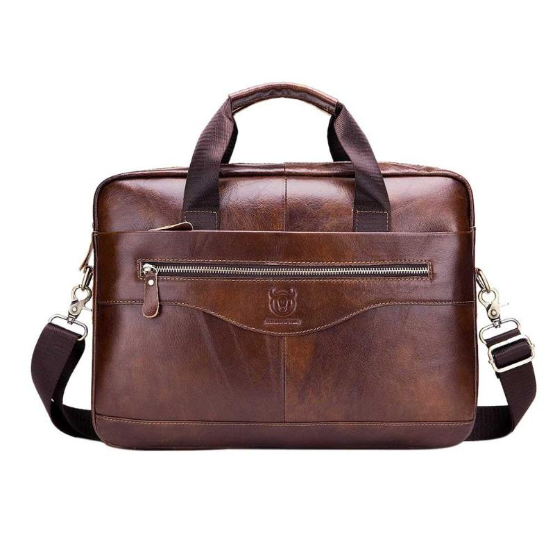 BULLCAPTAIN Business Men Briefcase Bag Promotion Simple Famous Brand Luxury Leather Laptop Bag Man Handbag Messenger BagsBULLCAPTAIN Business Men Briefcase Bag Promotion Simple Famous Brand Luxury Leather Laptop Bag Man Handbag Messenger Bags
