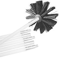 New Dryer Duct Cleaning Kit, Lint Remover, Synthetic Brush Head, Use With Or Without A Power Drill (2 Kits)