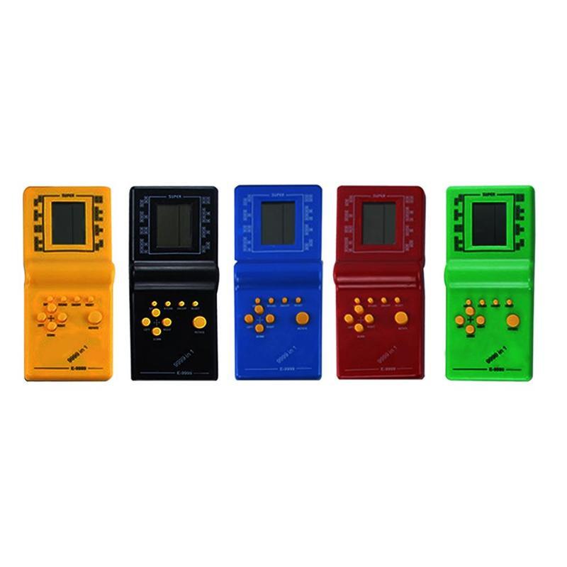 Retro Classic Electronic Tetris Game Player Handheld Children Educational Puzzle Toys Random Color