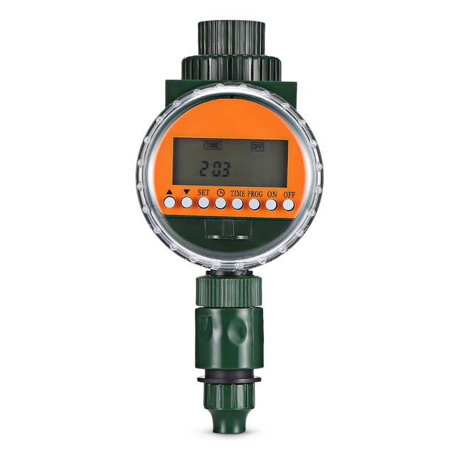 Automatic Intelligent Watering Timer Irrigation Controller Electric Valve Rain Sensor LED Display Electronic Water Timer Garden